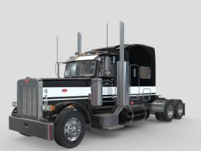 货车 厢式货车 卡车 货运车 大车 快递货车 运输车 大卡车 3d模型