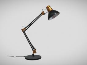 金属台灯 旧台灯 灯泡 生活电器 折叠台灯 照明灯具 3d模型