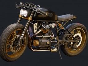 本田cx650  honda   摩托车  机车 3d模型