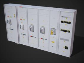 机柜式服务器  数据库 工作站 数据服务站 机柜 挖矿机 3d模型