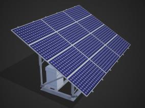 太阳能板 太阳能 新能源 太阳能电池板太阳能充电 光伏发电 3d模型