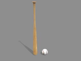 写实棒球棒 棒球棍 棍棒 棍子 棒子 球棒 3d模型