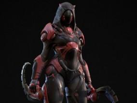科幻机器人  机器忍者  机器杀手 3d模型