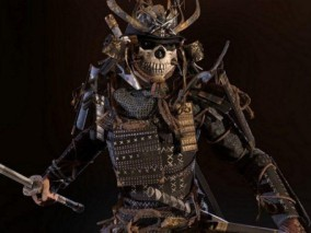 日本武士   骷髅武士   武士   将军 3d模型