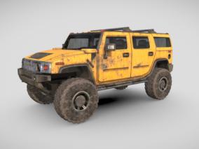 悍马车  悍马 军事装甲车 越野车 载具 汽车 四驱车 3d模型