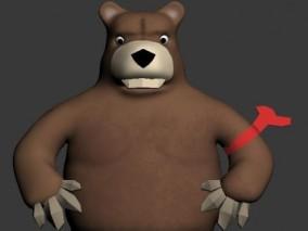熊 熊人 卡通 哺乳 3d模型