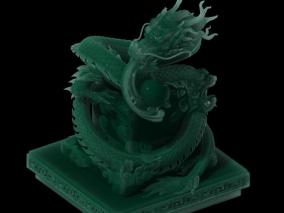 玉玺 大印 印章 玉器 玉石 玉龙 文房四宝 3d模型