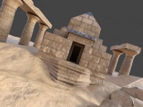 青金石金字塔 石雕 石柱 希腊埃及西方古迹 3d模型