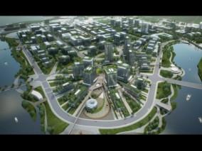 UE4场景数字孪生智慧城市房地产数据可视化通用案例工程成都园区