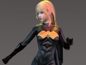 女超级英雄女 蝙蝠侠 3d模型