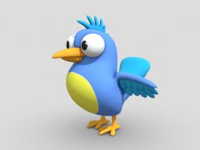 卡通小鸟 卡通动物 动物角色 可爱小鸟 Cartoon Bird 3d模型