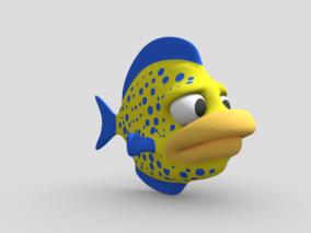 卡通鱼 卡通动物 小丑鱼 卡通鱼类 海洋生物 3d模型