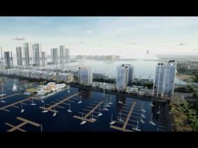UE4场景数字孪生智慧城市房地产数据可视化通用案例工程海边公寓