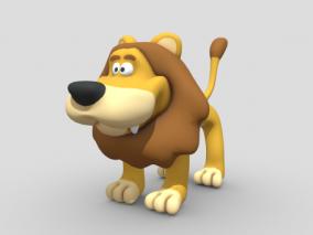 卡通动物角色 狮子 卡通造型 动漫动物造型 Q版动物 3d模型