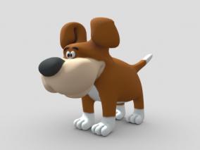 卡通动物角色 卡通狗造型 动漫造型 Q版动物 小狗 3d模型