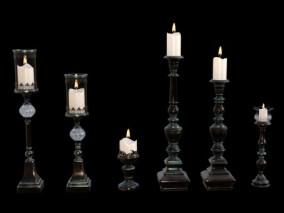 蜡烛 烛台 烛光火 3d模型