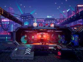 游戏机厅创意场景系列CG作品欣赏