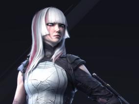 实验体系列丨白发欧美女性CG模型作品欣赏