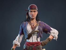 海盗小姐丨女性角色设计CG模型