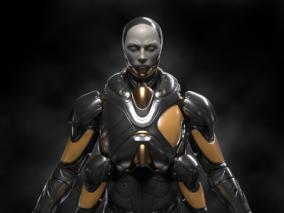 科幻风格机械人CG模型作品分享