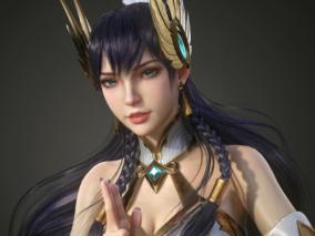 国人3D设计师 euginnx _Wu  古风 唯美 性感 美女角色