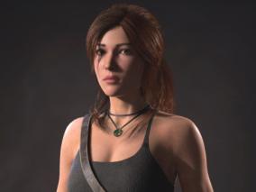 古墓丽影劳拉女性角色CG模型设计