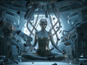 次时代实验室机械人CG模型作品