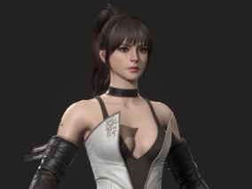国外3D艺术家 ed-pantera  次世代 写实 性感 剑少女