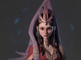 伊朗 3D角色设计师 Bohloul Belarak  异域风情  女公主CG角色