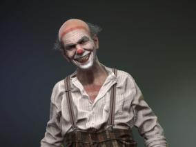 年老小丑男性CG模型作品欣赏