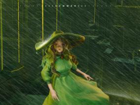 【3D辅助插画】下雨的城市