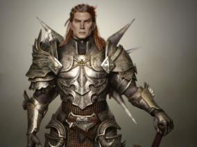 印度3D角色设计师 TUSHANK 写实 龙骑士