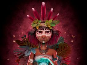 国外3D设计师 al_saravia 亚马逊战士:Illa