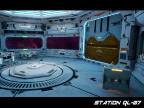 场景设计 Station QL-07(太空站)