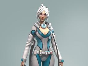 未来医生赛博朋克CG模型作品欣赏