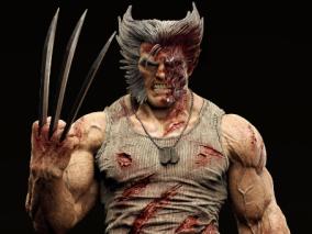 金刚狼 模型雕刻