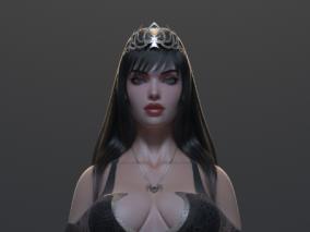 死亡女神性感女性角色CG模型欣赏