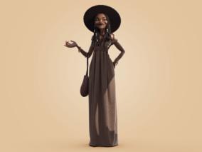 非洲女性风格化角色人物设计作品