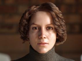 写实女性CG角色-玛丽     国外3d设计师 hoseinbashogh