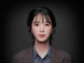 韩系女孩上班族人物CG模型
