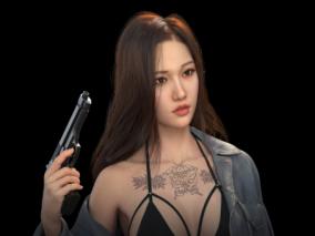 性感女枪手蛇女