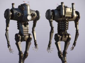 蒸汽朋克机甲机器人   国外设计师 Baldasseroni