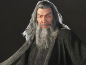 Gandalf  法师角色人物模型作品