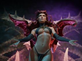 性感恶魔玛德琳·普赖尔CG模型作品