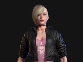 朋克酷女孩(纹身效果)游戏角色设计