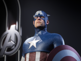 美国队长-写实角色设计