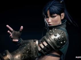 女拳击手  女战士CG模型作品欣赏