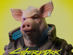 作品:赛博朋克2077—猪头人