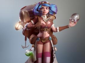 巴西3D角色概念艺术家Leandro Sakami 作品欣赏
