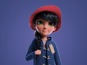 帕丁顿卡通女孩角色--设计师:flauberth